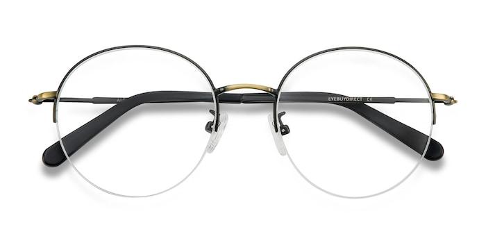 Albee | Black Bronze Metal Eyeglasses | EyeBuyDirect