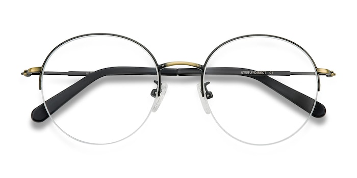 Black Bronze Albee -  Designer Metal Eyeglasses