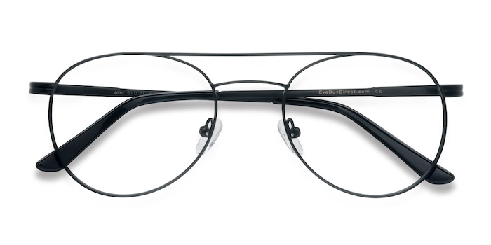 Black Alibi -  Vintage Metal Eyeglasses