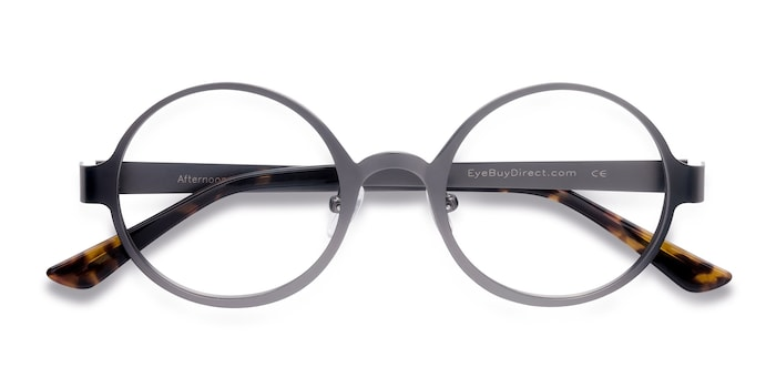 Afternoon | Gunmetal Metal Eyeglasses | EyeBuyDirect