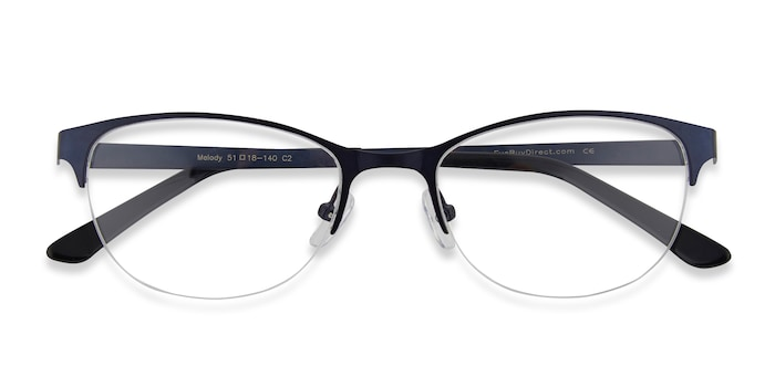 Navy Melody -  Colorful Metal Eyeglasses