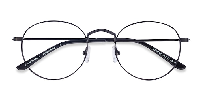 Black Cupertino -  Vintage Metal Eyeglasses
