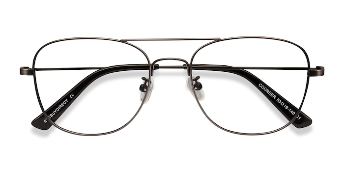 Gunmetal Courser -  Metal Eyeglasses