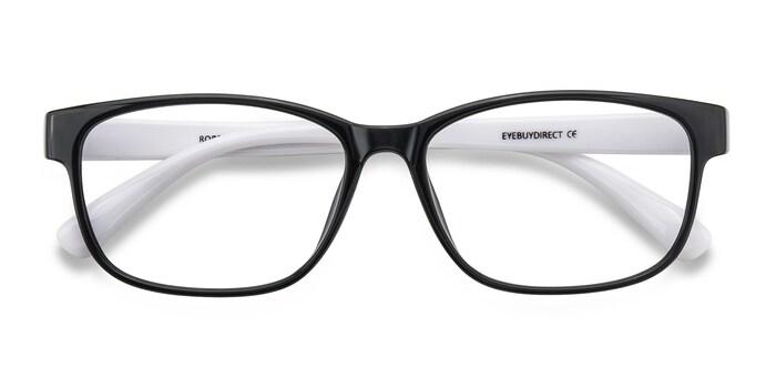 Robbie | Black/White Plastic Eyeglasses | EyeBuyDirect