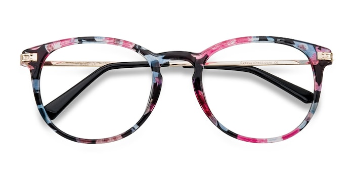 Blue Floral Muse -  Fashion Plastic Eyeglasses