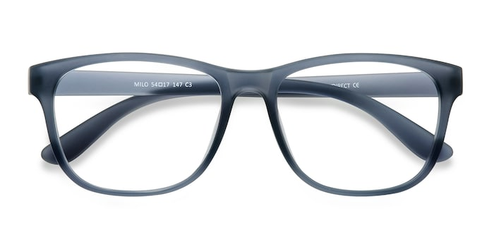 Matte Gray Milo -  Fashion Plastic Eyeglasses