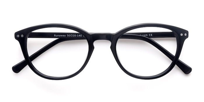 Black Runaway -  Fashion Acetate Eyeglasses