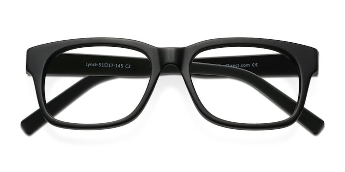 Matte Black Lynch -  Acetate Eyeglasses
