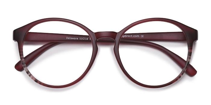 Matte Burgundy Delaware -  Fashion Plastic Eyeglasses