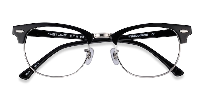 Black Silver Sweet Janet -  Fashion Acetate Eyeglasses