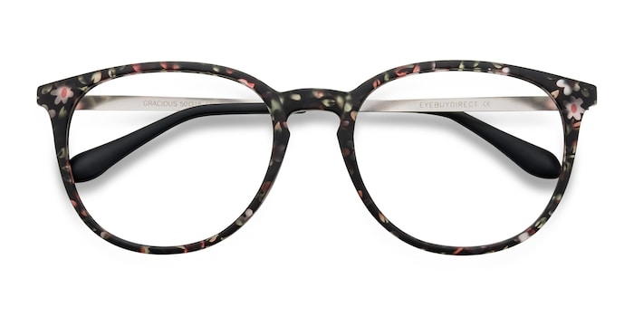 Pink Floral Gracious -  Colorful Metal Eyeglasses
