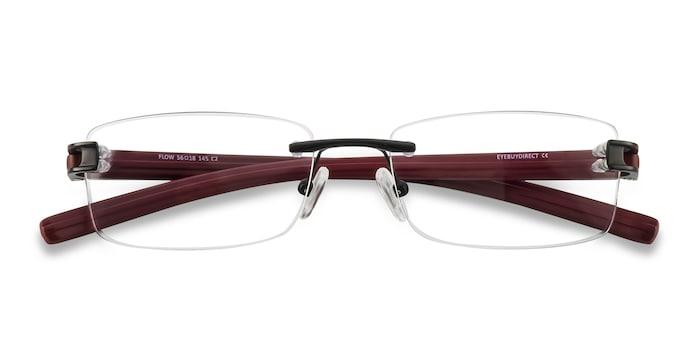 Black Burgundy Flow -  Acetate Eyeglasses