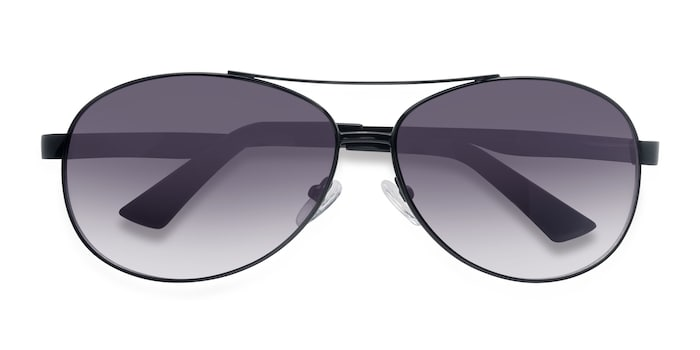 Black Santorini -  Vintage Metal Sunglasses