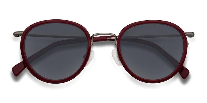 Red Siena -  Vintage Acetate Sunglasses