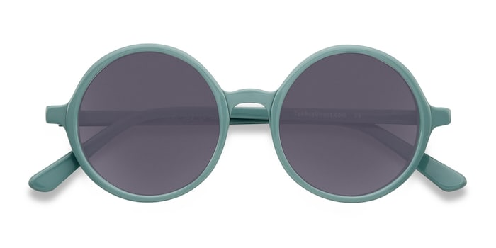 Green Alena -  Vintage Acetate Sunglasses