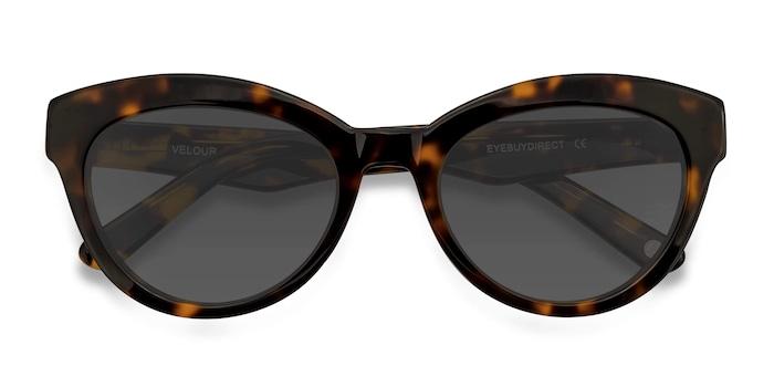 Tortoise Velour -  Vintage Acetate Sunglasses