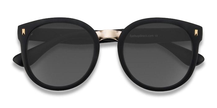 Matte Black Vedette -  Metal Sunglasses