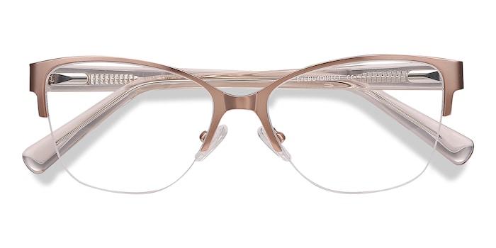 Pink Golden Feline -  Colorful Acetate Eyeglasses