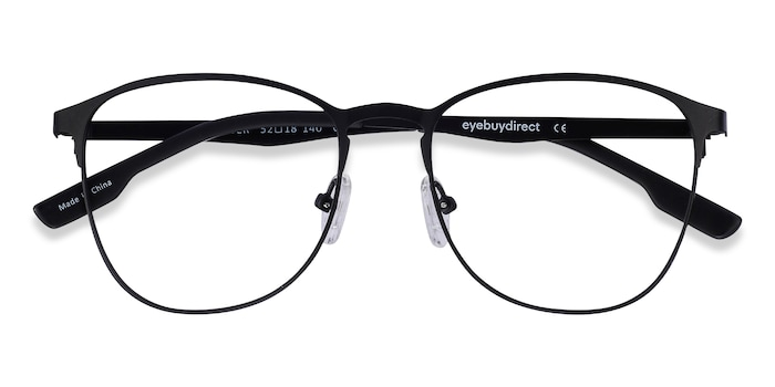 Matte Black Ember -  Classic Metal Eyeglasses