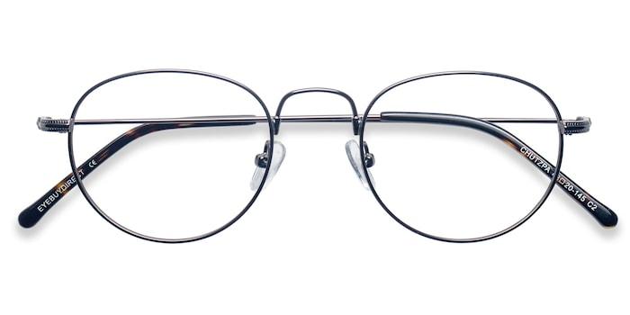 Gunmetal Chutzpa -  Metal Eyeglasses