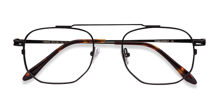 Black Cordon -  Metal Eyeglasses