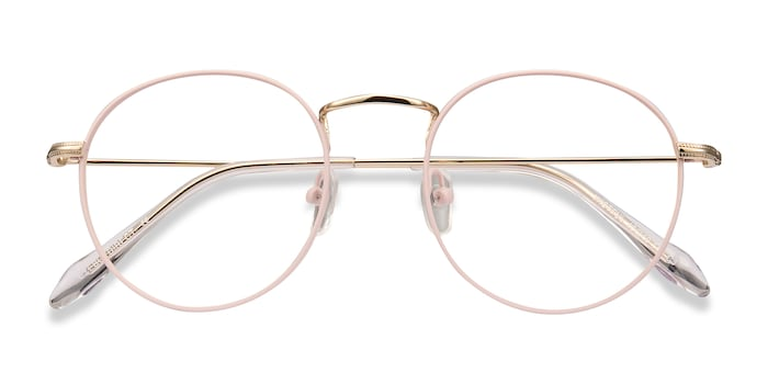 Matte Pink Wistful -  Metal Eyeglasses