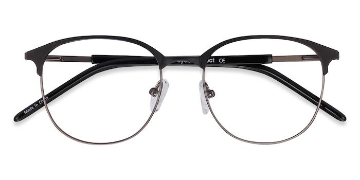 Black Gunmetal Perceive -  Metal Eyeglasses