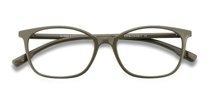 Olive Green Glider -  Plastic Eyeglasses