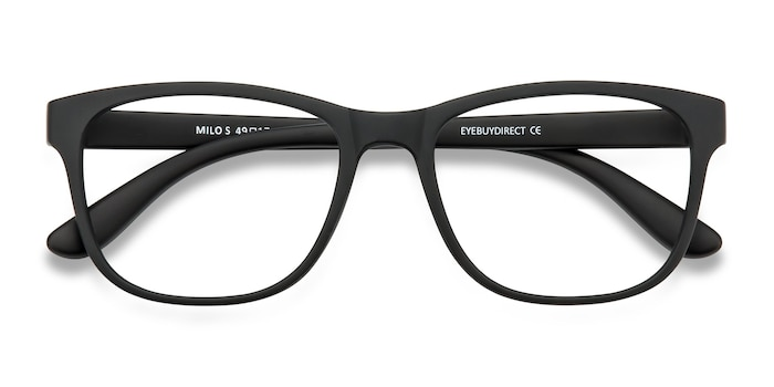 Milo Timeless Matte Black Eyeglasses Eyebuydirect
