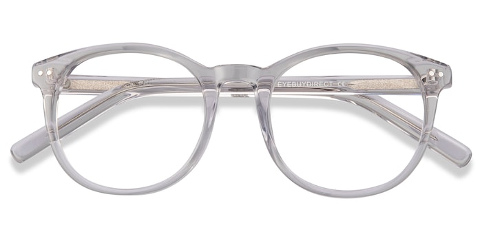 Gray Clear Primrose -  Acetate Eyeglasses