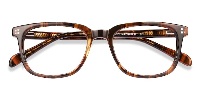 Brown Striped Kent -  Acetate Eyeglasses