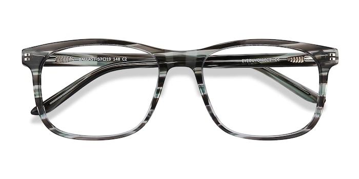 Gray Striped Ballast -  Acetate Eyeglasses