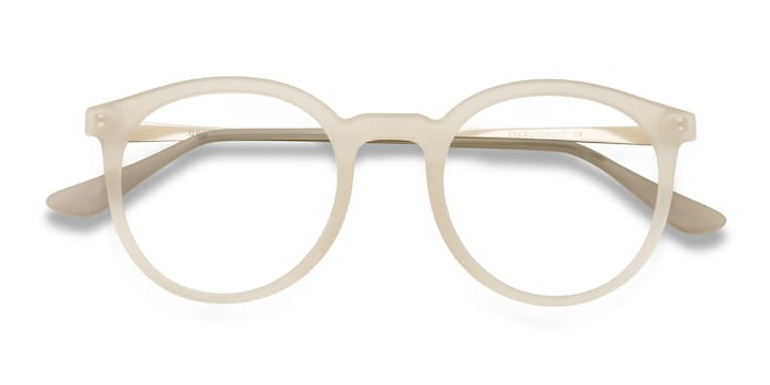 Matte Clear Grin -  Metal Eyeglasses