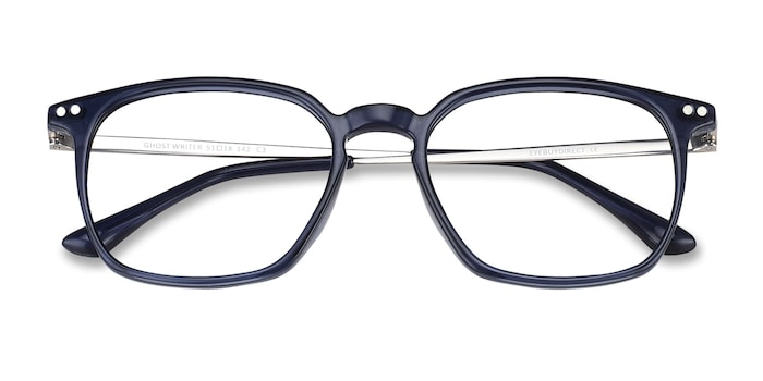 Navy Ghostwriter -  Metal Eyeglasses