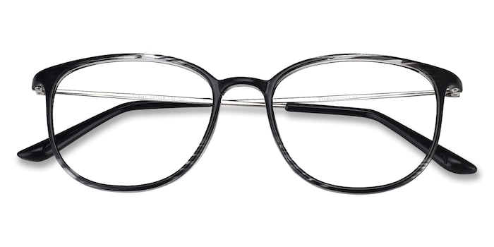 Black striped Strike -  Metal Eyeglasses