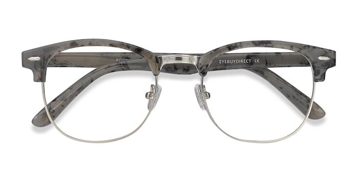 Speckled Gray Roots -  Vintage Metal Eyeglasses