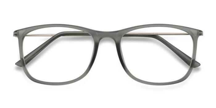 Matte Gray Hurricane -  Metal Eyeglasses