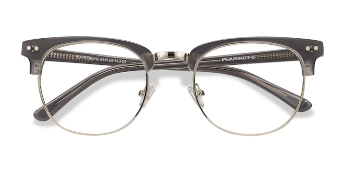 Gray Borderline -  Vintage Acetate Eyeglasses