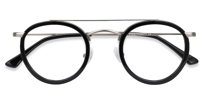 Black Silver Architect -  Acetate Eyeglasses