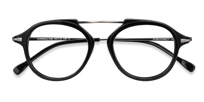 Black Gunmetal Terminal One -  Acetate Eyeglasses