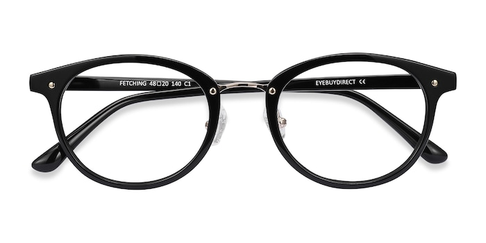 Black Golden Fetching -  Acetate Eyeglasses