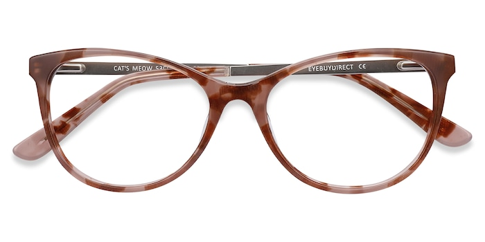 Brown Floral Cat's Meow -  Acetate Eyeglasses