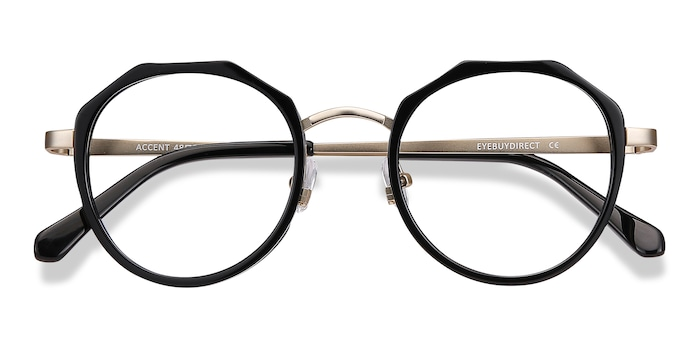 Black Accent -  Acetate Eyeglasses