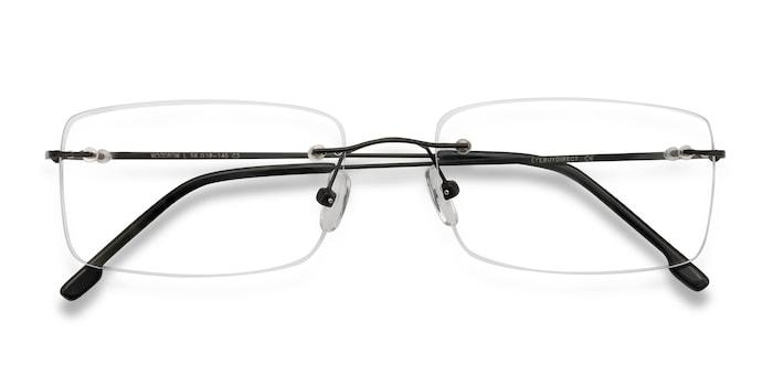 Black Woodrow -  Metal Eyeglasses