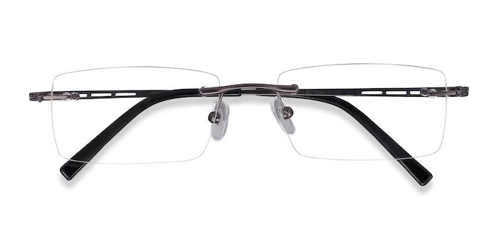 Gunmetal Percy -  Metal Eyeglasses