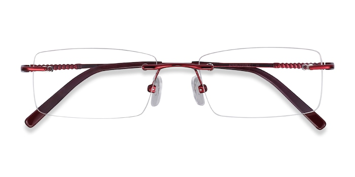 Burgundy Earl -  Metal Eyeglasses