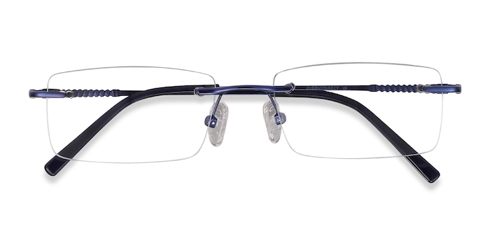 Navy Earl -  Metal Eyeglasses