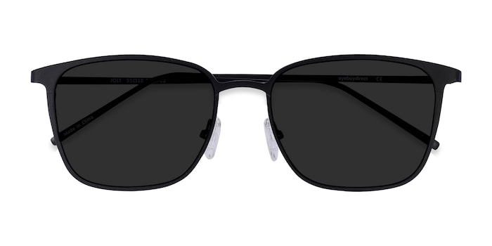 Black Jolt -  Metal Sunglasses