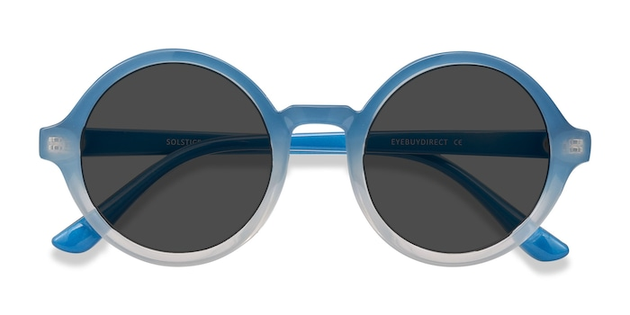 Blue Clear Solstice -  Plastic Sunglasses