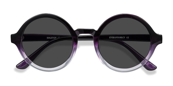 Purple Clear Solstice -  Plastic Sunglasses